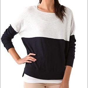vince • color block long sleeve sweatshirt
